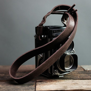 Barton1972 Leather Neck Strap RolleiStyle - Brown