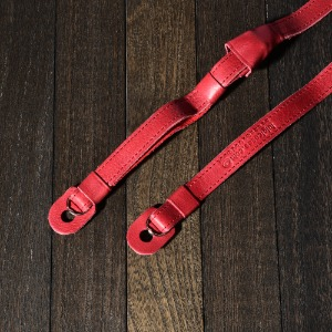 [Luigi's] Leather Neck Strap (with Pad) Cherry