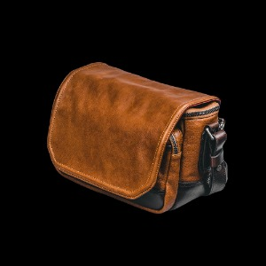 [WOTANCRAFT] Ryker Full Leather Camera Bag Brown/Coffee Brown - S